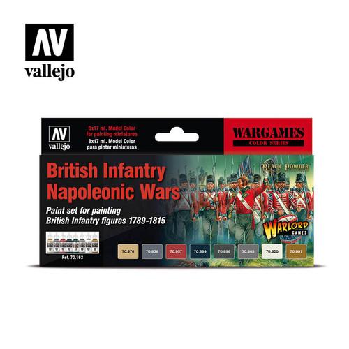 Acrylicos Vallejo Set: British Infantry Napoleonic Wars Set