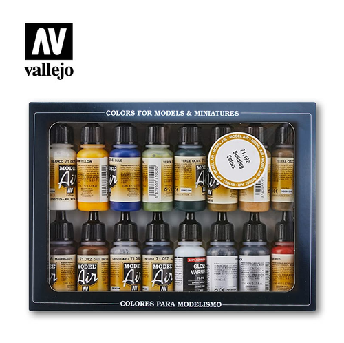 Acrylicos Vallejo Set: Model Air Set Building Colors