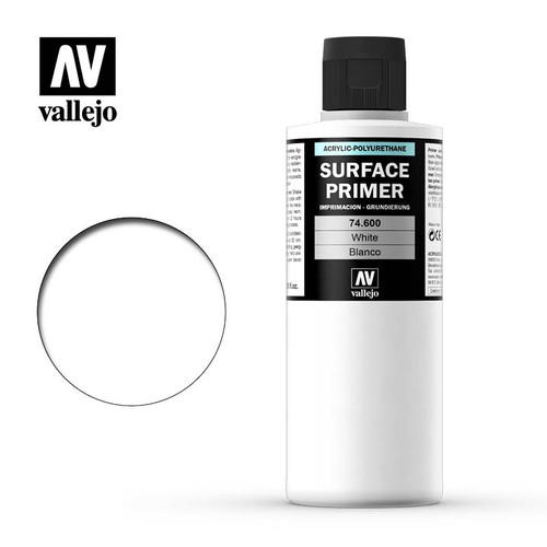 Acrylicos Vallejo: Acrylic Polyurethane - Primer White 200ml