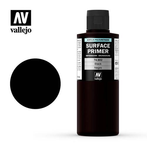 Acrylicos Vallejo: Acrylic Polyurethane - Primer Black 200ml