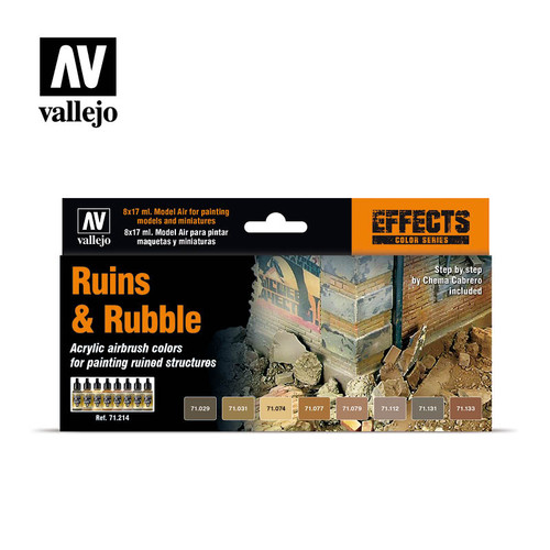 Acrylicos Vallejo Set: Ruins & Rubble (Effect Colors Series)