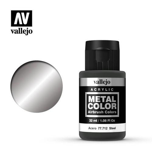 Acrylicos Vallejo Metal Color - Steel 32ml