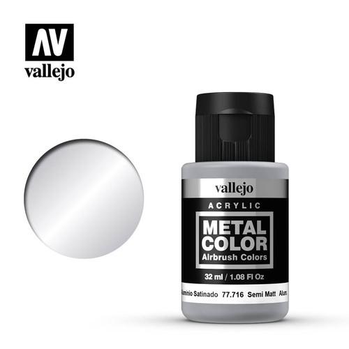 Acrylicos Vallejo Metal Color - Semi Matte Aluminium 32ml