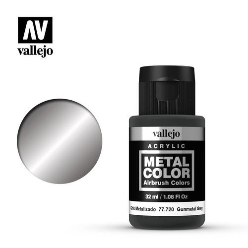Acrylicos Vallejo Metal Color - Gunmetal Grey 32ml