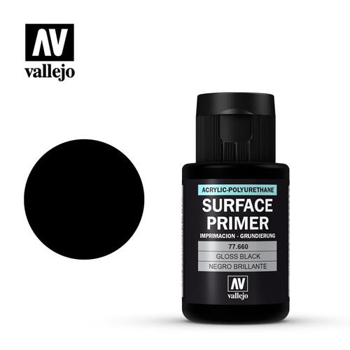 Acrylicos Vallejo Metal Color - Gloss Black Primer 32ml