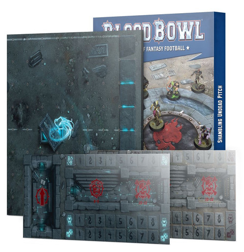 BLOOD BOWL SHAMBLING UNDEAD PITCH & DUGOUTS