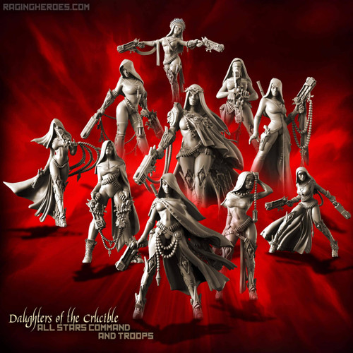 Daughters of the Crucible Pack - All 10 Stars Command AND Troops (Sisters SF
