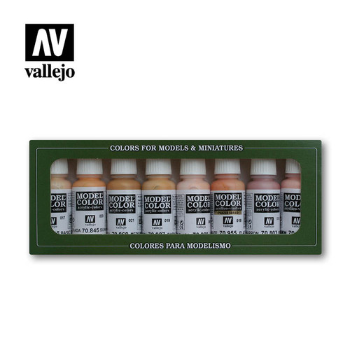 Acrylicos Vallejo: Model Color Set - Face/Skin Colours
