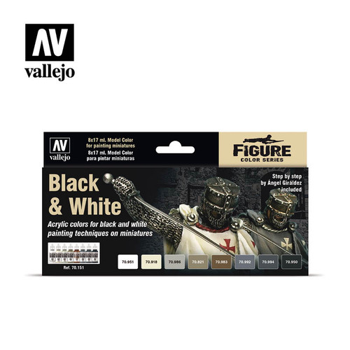 Acrylicos Vallejo: Model Color Set - Black and White