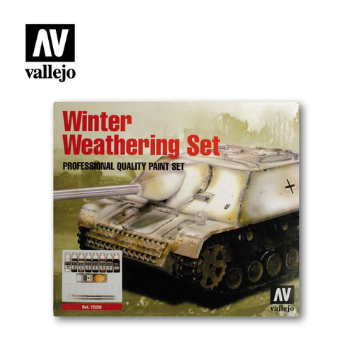 Acrylicos Vallejo Set: Winter Weatering