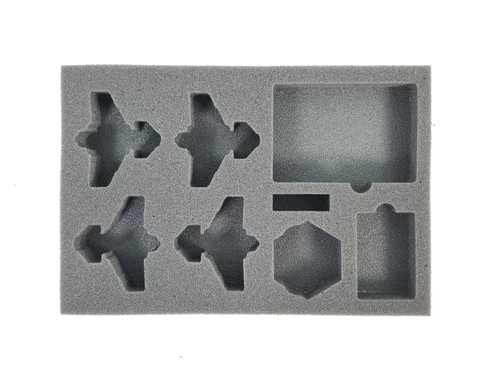 (Aeronautica Imperialis) Thunderbolt Fighter Foam Tray with Unassembled Flight Stands (BFS-1)