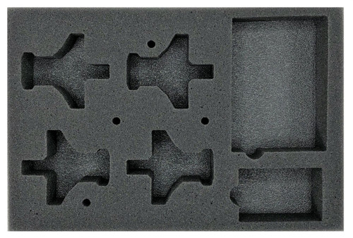 (Aeronautica Imperialis) Valkyrie Assault Carriers Foam Tray with Flight Stems Glued to Base (BFS-1.5)
