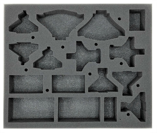 (Aeronautica Imperialis) Skies of Fire Foam Tray with Flight Stands Glued to Base (BFB-1.5)