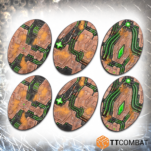 TABLETOP SCNEICS 90mm Tomb World Oval Bases