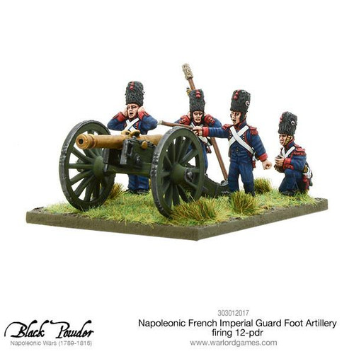 Napoleonic French Imperial Guard Foot Artillery 12-pdr firing (Splash Release)