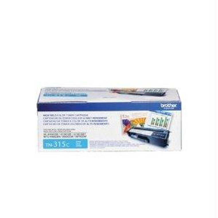 Recycle Your Used Brother Cyan Toner Cartridge, 3,500 yield, fits multiple models - TN315C