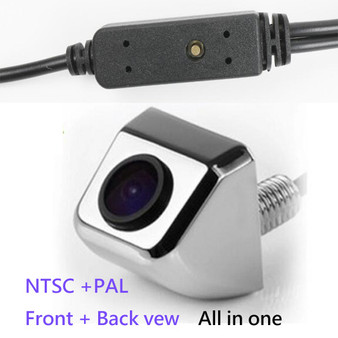 Universal front view & rearview car camera switch by one button