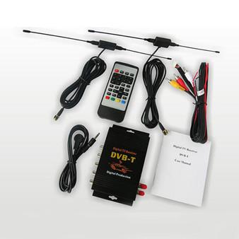 Univeral Car DVB-T BOX Two tuner MPEG4 Auto Digital TV box for Europe