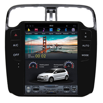10.4 '' VW Polo 2014 Tesla Style Vertical Screen Android Navigation Radio