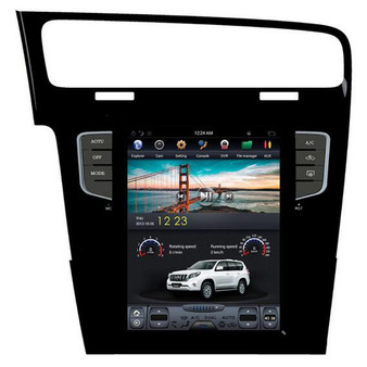 10.4 '' Volkswagen Golf 7 2014 Tesla Style Vertical Screen Android Navigation