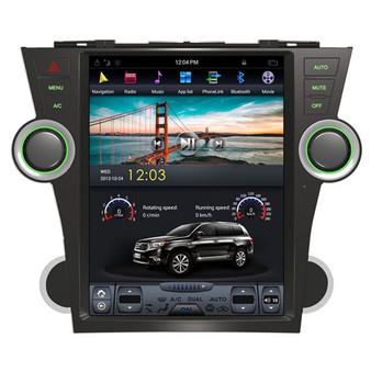 12.1 '' Tesla Style Vertical Screen Navigation GPS for Toyota Highlander 2009-2013