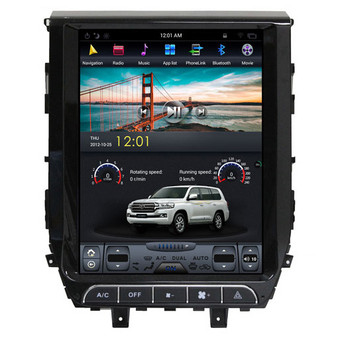 12.1 '' Tesla Style Vertical Screen Navigation GPS for Toyota Land Cruiser 2016-2018