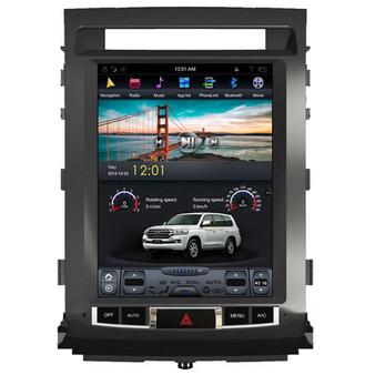 12.1 '' Tesla Style GPS Navigation for Toyota Land Cruiser 2008-2015