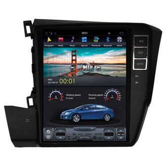 10.4 '' Honda Civic 2012 -2015 Tesla Style Vertical Screen Android Navigation GPS