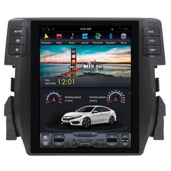 10.4 '' Honda Civic 2016 Vertical Screen Tesla Style Android Navigation GPS Head Unit