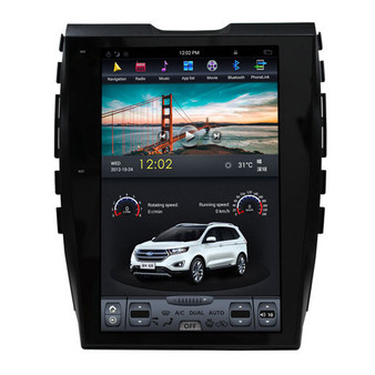12.1 '' Tesla Style Android Navigation GPS Vertical Screen for Ford Edge 2015 -2018