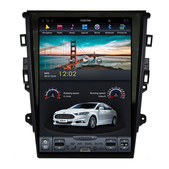 12.1 '' Tesla Style Android Navigation Vertical Screen for  Ford Mondeo 2013-2019