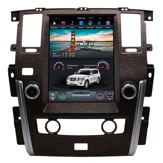 12.1 '' Tesla Style Vertical Screen Navigation GPS for Nissan Patrol SE(Wooden)