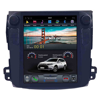 10.4 '' Tesla Style Vertical Screen Android Navigation GPS for Mitsubishi Outlander