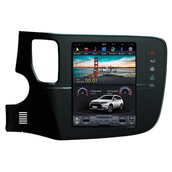 10.4 '' Mitsubishi Outlander Tesla Style Vertical Screen Android Navigation GPS