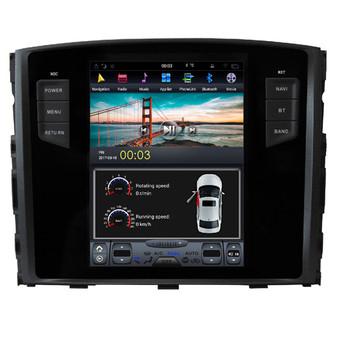12.1 '' Tesla Style Android Navigation GPS for Mitsubishi Pajero v93 v97 rockford 2009-2019