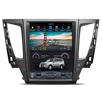 12.1 '' Tesla Style Vertical Screen Android Navigation for Mitsubishi Pajero Sports