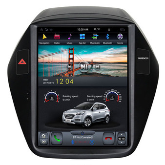 10.4 '' Hyundai IX35 2018 Tesla Style Vertical Screen Android GPS Navigation