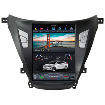 10.4 '' Hyundai Elantra Tesla Style Vertical Screen Android Navigation GPS