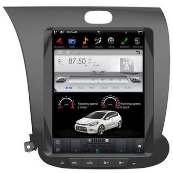 10.4 '' Kia K3 2013 Vertical Screen Tesla Style Android Navigation GPS