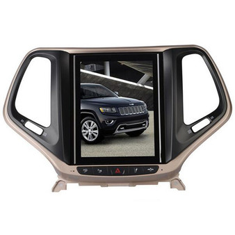 10.4 '' Jeep Cherokee 2016 Vertical Screen Tesla Style Android GPS Navigation