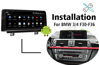 Installation manual for BMW 3 / 4 series F30-F36 Navigation GPS