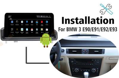 Installation manual for BMW 3  E90 E91 E92 E93 Navigation GPS