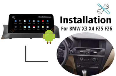 Installation manual for BMW X3 X4 Navigation GPS system