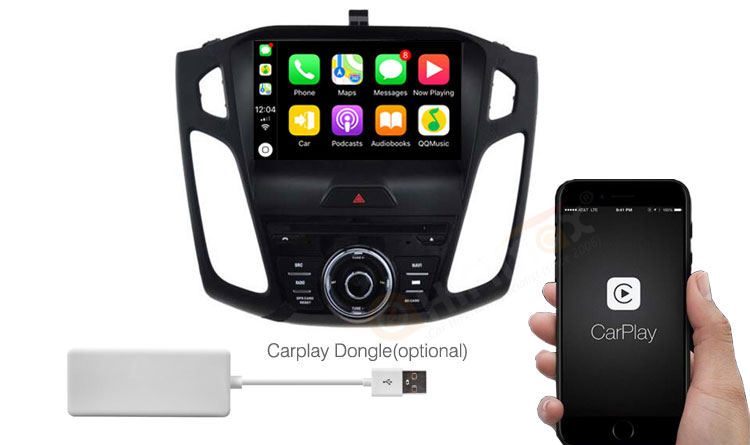 Ford Focus navigation android gps support apple carplay and android auto