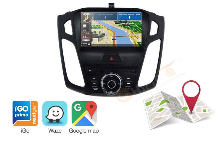 Ford Focus navigation gps support google map,igo,waze etc
