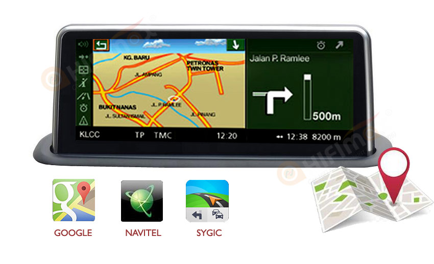 android bmw 5 e53 x5 gps navigation support google map,waze,igo,sygic etc