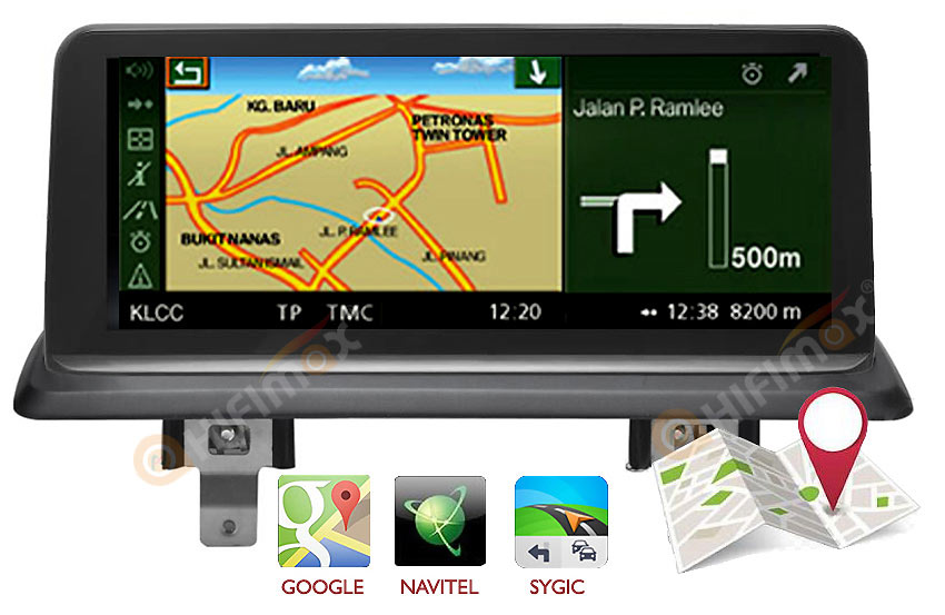 BMW 1 series E81 E82 E87 E88 Navigation head unit support google map,waze,igo etc