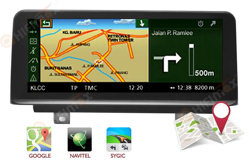 BMW 3/4 series F30-F36 Navigation head unit support google map,waze,igo etc
