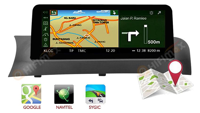 aftermarket bmw x3 x4 gps navigation support google map,waze,igo,sygic map