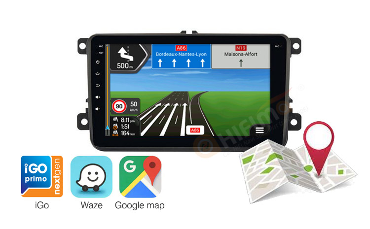 Volkswagen Tiguan Touran Sharan android navigation support google map,waze igo etc